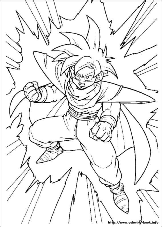 desenho para colorir anime