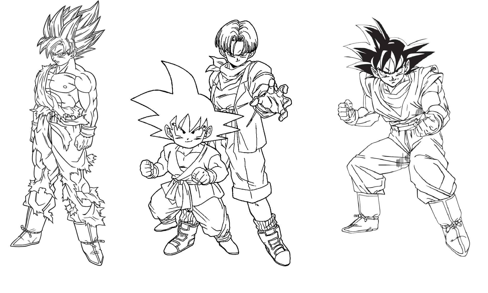 39 Desenhos Do Dragon Ball Z Para Colorir E Imprimir Gratis