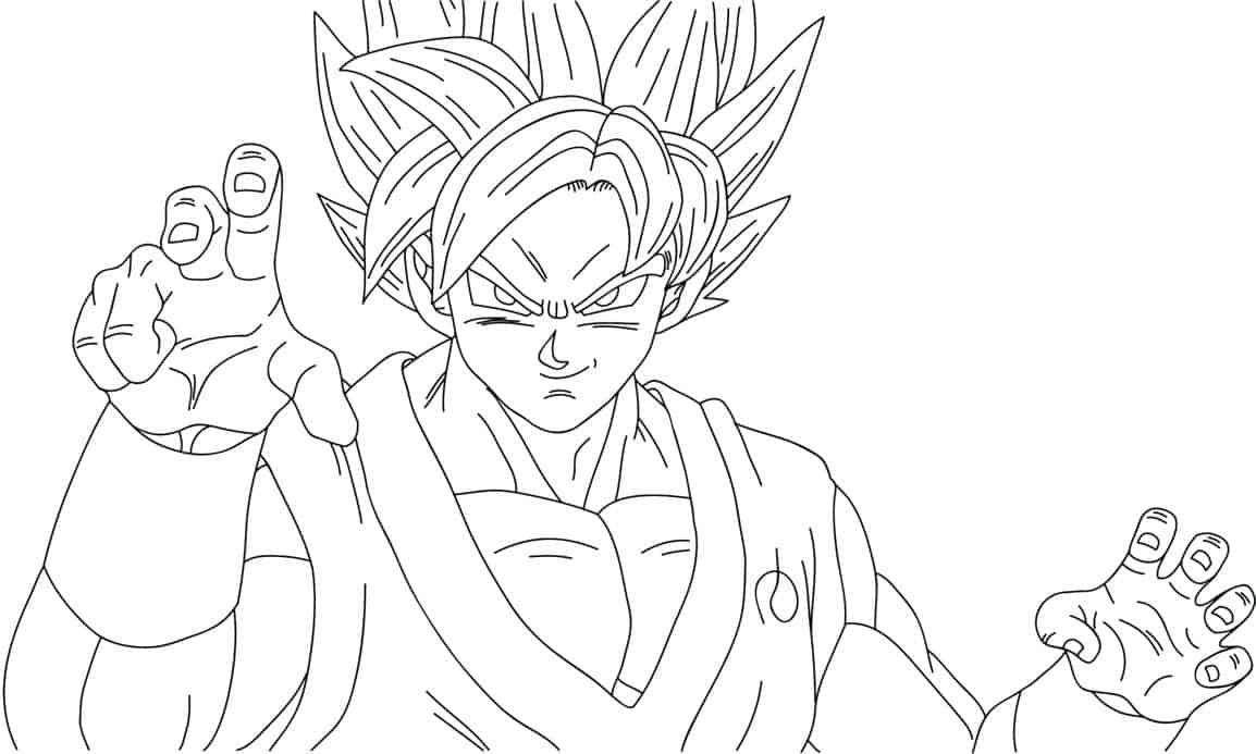 desenho goku