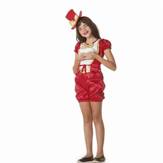 Que tal então fantasia feminina de mágico com shorts?