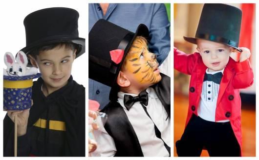 Atualmente há muitos modelos de fantasias de mágico para crianças!