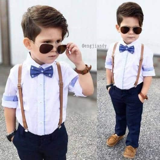 look com gravata azul