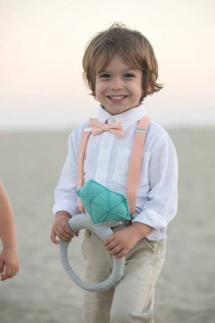look infantil casamento na praia