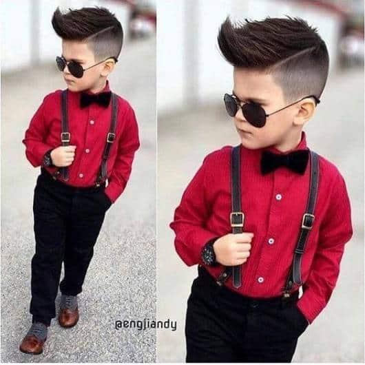 look infantil com camisa