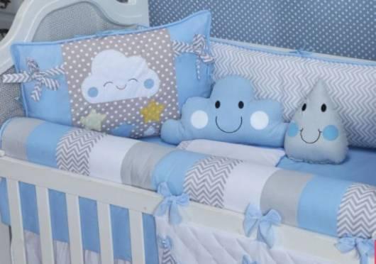 Kit berço nuvem com a cor azul