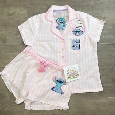Pijama infantil feminino com bordado do Stitch