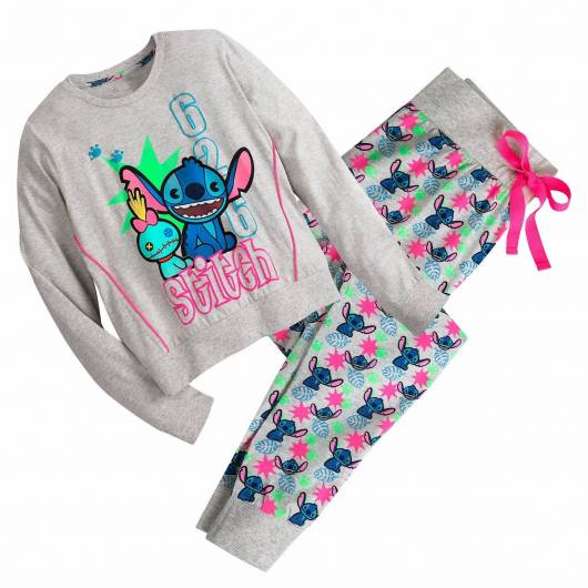 Pijama Stitch de inverno com calça e blusa