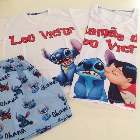 Pijama personalizado do personagem Stitch