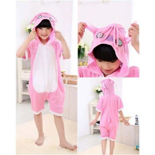 Macacão pijama rosa para usar no verão