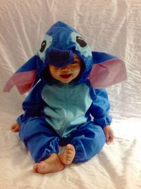 Pijama / fantasia bem quentinha de Stitch para bebês