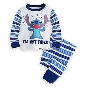 Pijama infantil do Stitch com calça e camiseta de manha longa