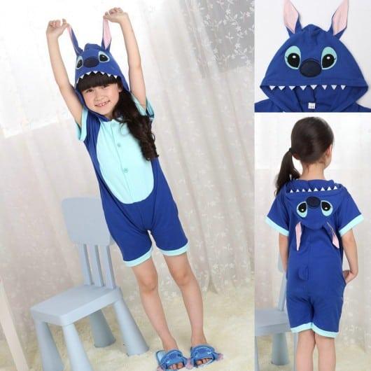 Pijama Stitch para o verão para meninos e meninas