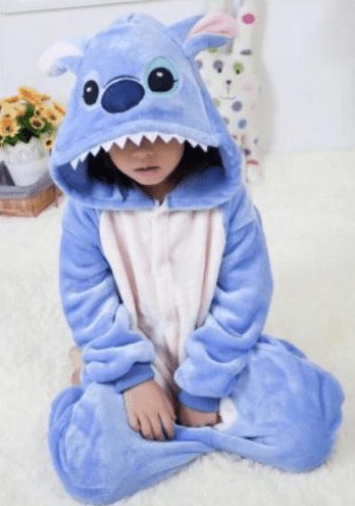 Pijama Stitch azul infantil - Geek Magazine