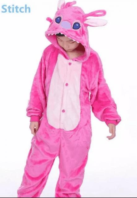 Pijama Stitch rosa para crianças - Mercado Livre
