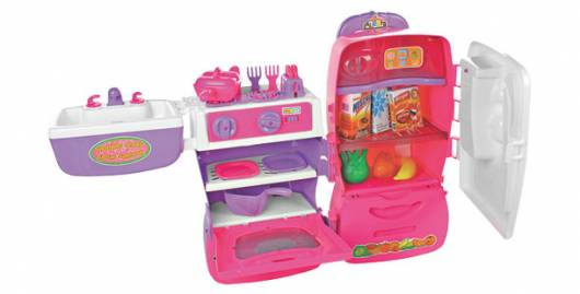 Presente Dia das Crianças para menina geladeira rosa