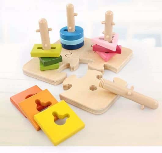 Presente Dia das Crianças brinquedo montessori quebra cabeça