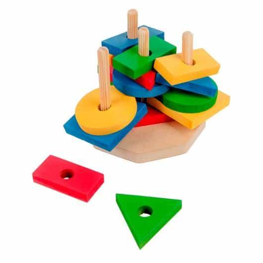 Presente Dia das Crianças brinquedo montessori empilhar peças
