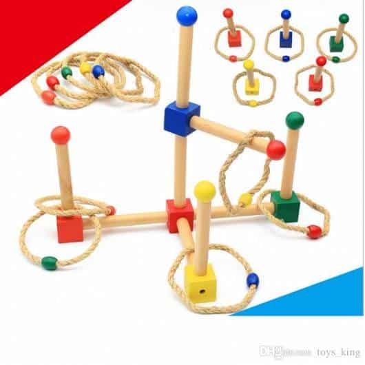 Presente Dia das Crianças brinquedo montessori jogar argolas