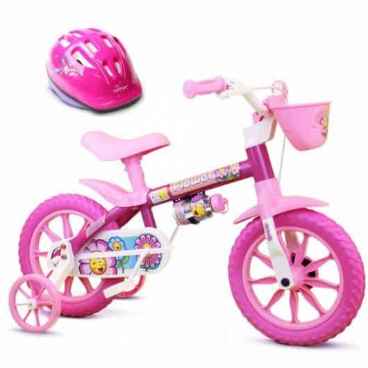 Presente Dia das Crianças para menina bicicleta rosa