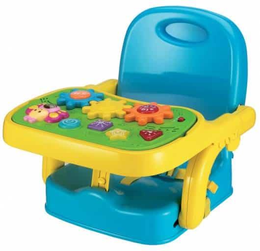 Cadeira de alimentação: Booster azul e amarela