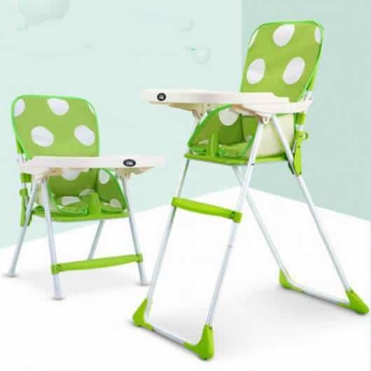 Cadeira de alimentação: Portátil verde e branca