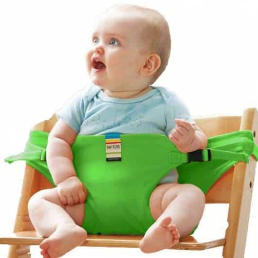 Cadeira de alimentação: Portátil verde