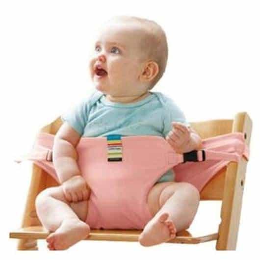 Cadeira de alimentação: Portátil rosa claro