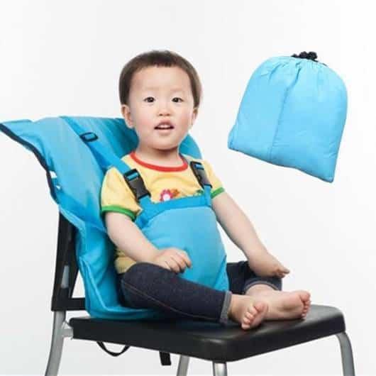 Cadeira de alimentação: Portátil azul
