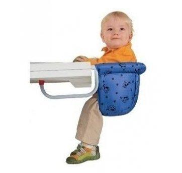 Cadeira de alimentação: Suspensa azul com estampa