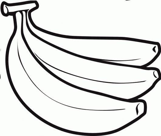 desenhos de frutas para colorir banana palma