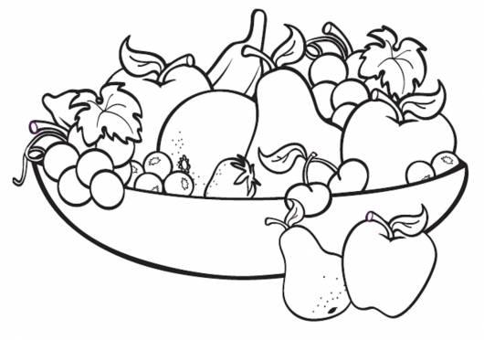dicas desenhos de frutas para colorir