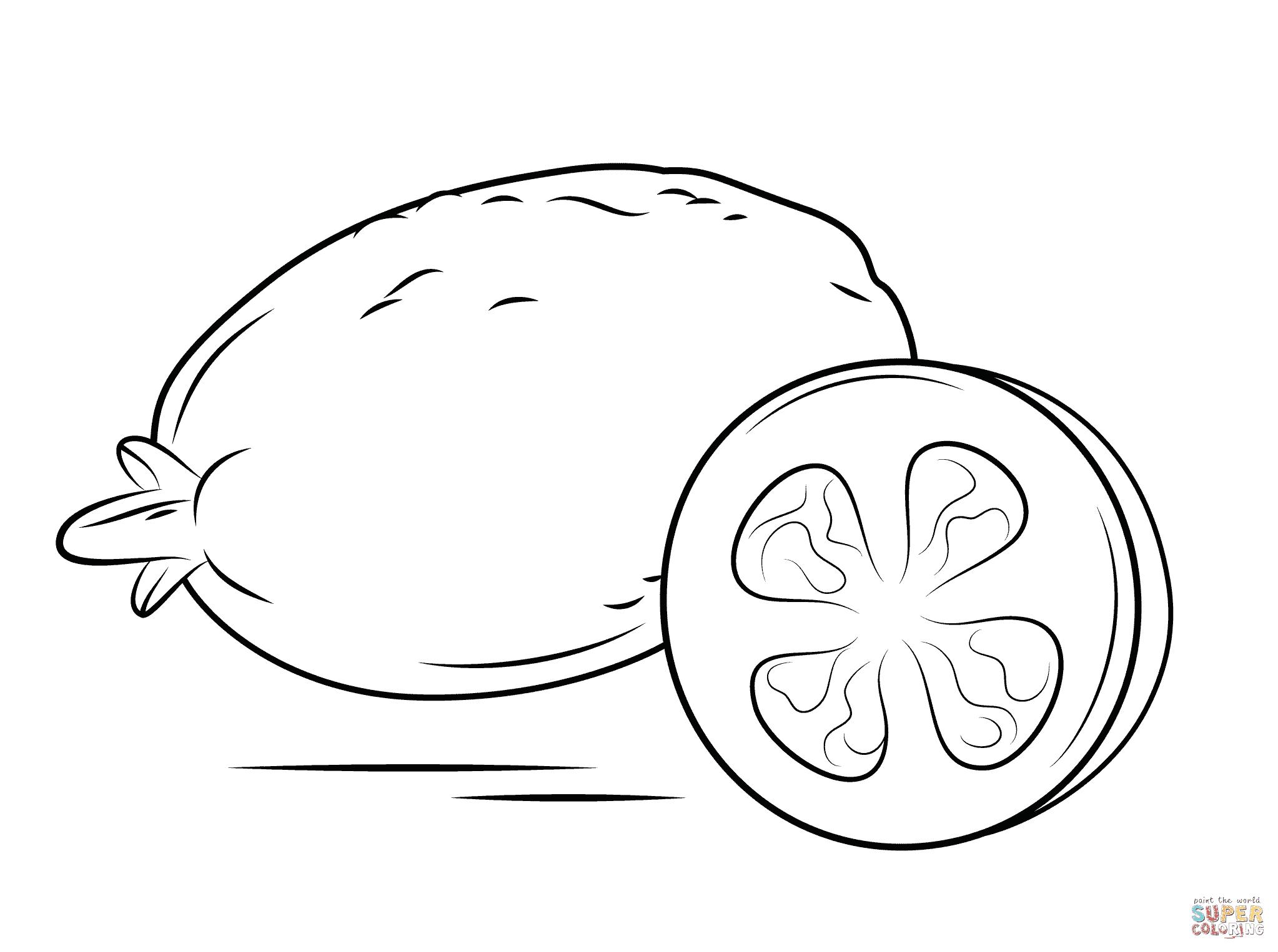 desenhos para colorir limão
