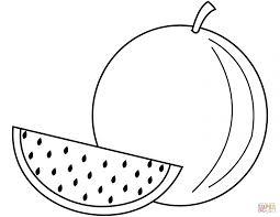 dicas de desenhos de frutas para colorir com melancia