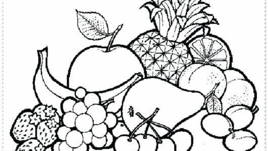 lindas desenhos de frutas para colorir