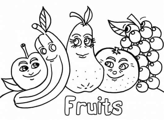 dicas de desenhos de frutas para colorir