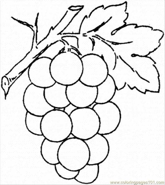 desenhos de frutas para colorir grande