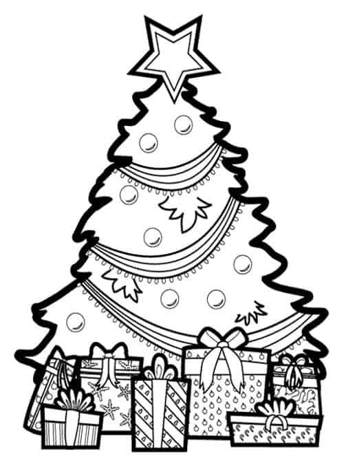 árvore com presentes