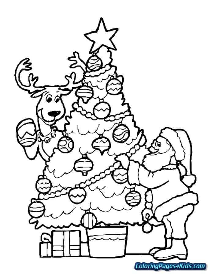 desenho com rena do papai noel