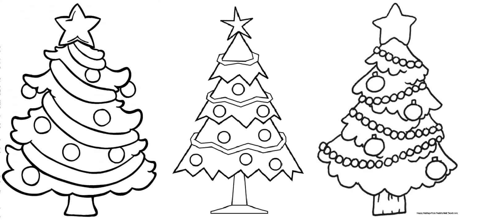 desenhos de árvore de natal para imprimir grátis