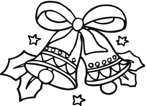 desenho estrela com sinos