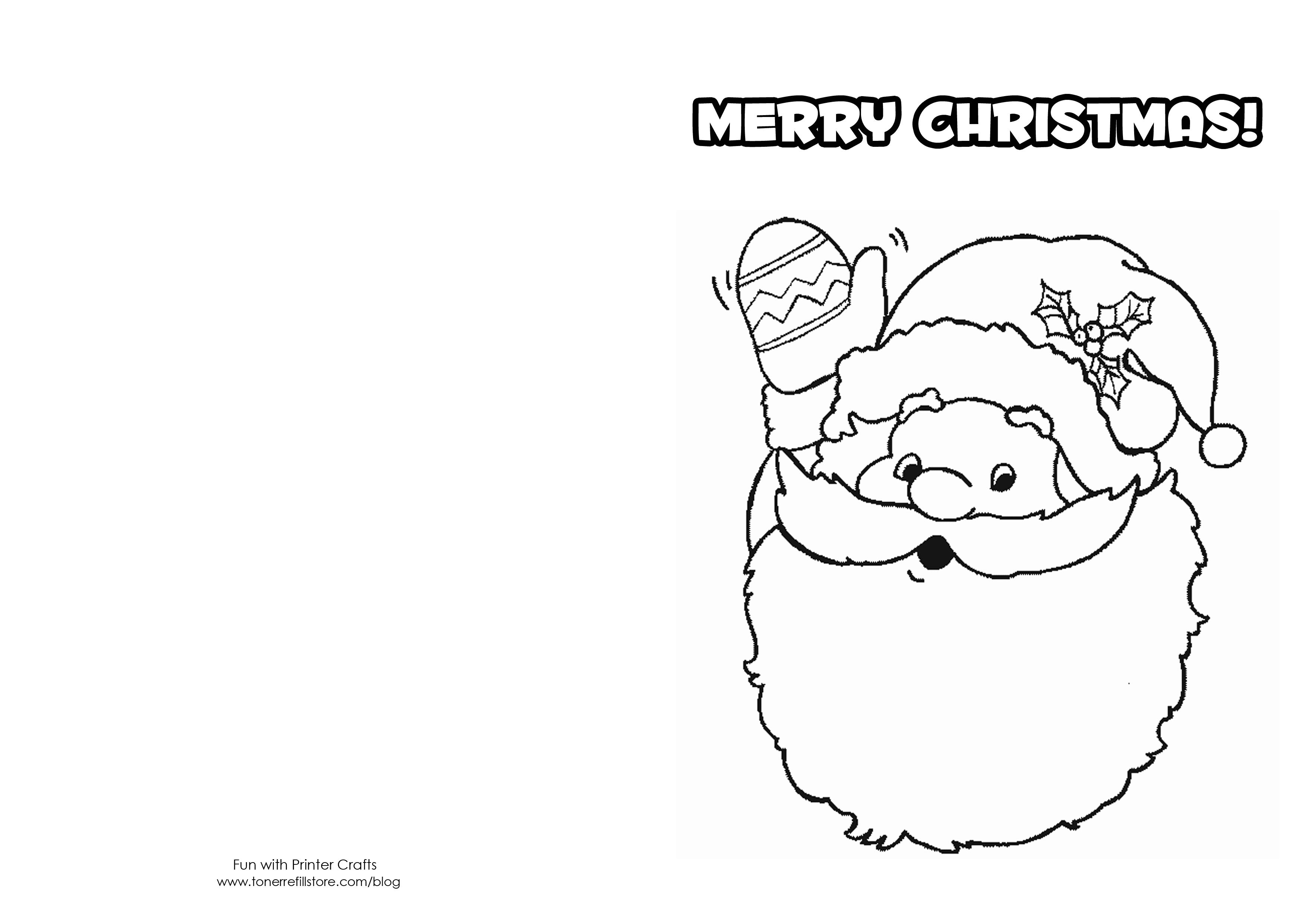 cartão de natal para imprimir grátis