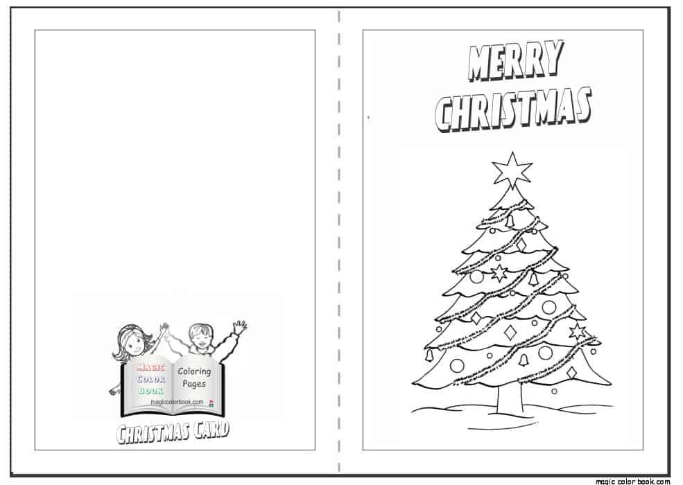 cartão com árvore de natal