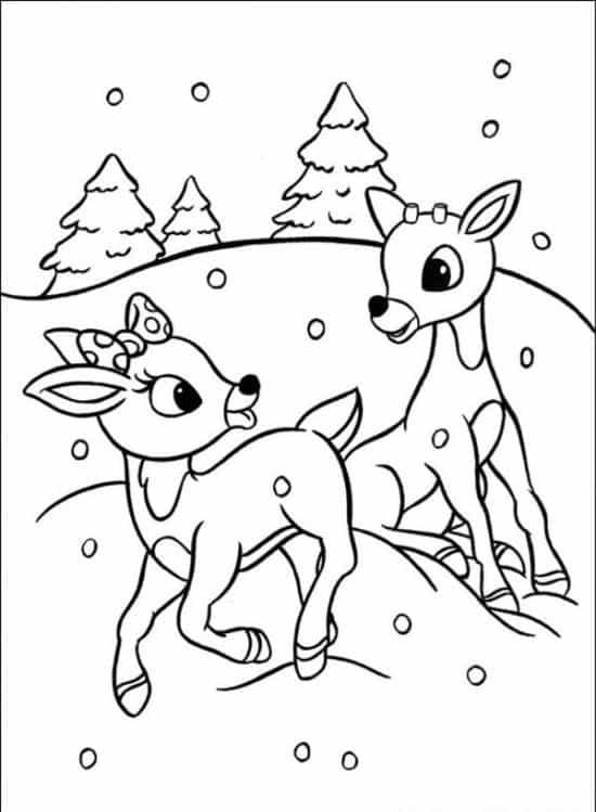 cartão de natal com neve