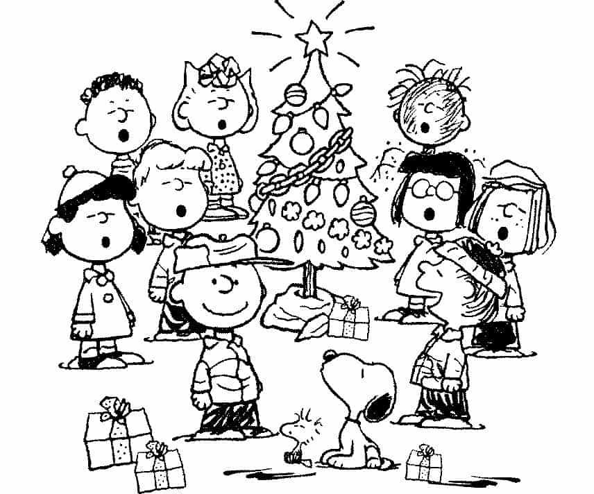 cartão de natal Snoopy