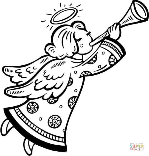 desenho grátis anjo