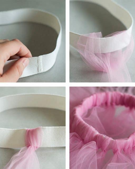 como fazer saia de tule simples
