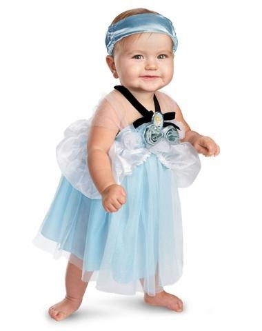 Sugestão de vestidinho inspirado na Cinderela para bebês
