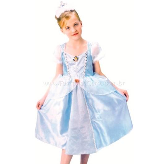 Vestido da Cinderela com azul e branco