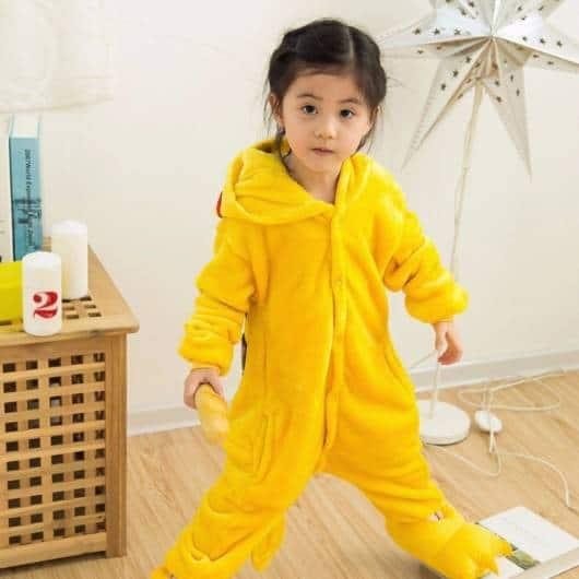 Pijama Pikachu Infantil amarelo