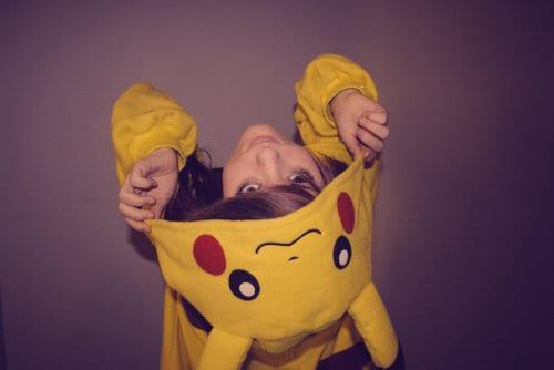 Pijama Pikachu Infantil com capuz
